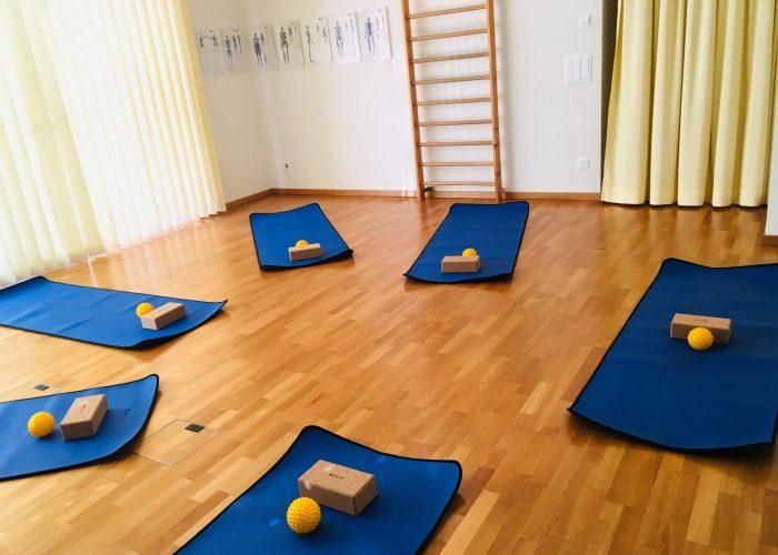 Der Gymnastikraum vor der Pilateslektion